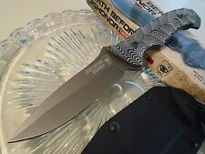 United Death Before Dishonor Titanium Combat Knife Full Tang Micarta Kydex 3053