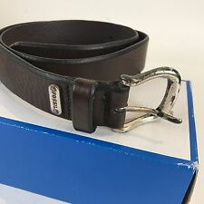 GUC Men's Distressed FOSSIL Brown Italian leather Belt Size 32 worn used