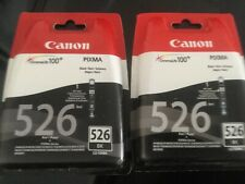 CANON CLI-526 X2 Black Ink Cartridges  . New (sealed) X2