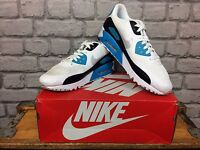 NIKE AIR MAX 90 ULTRA ESSENTIAL TRAINERS BLUE BLACK RUNNING UK 6 9