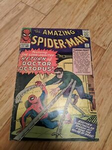 Amazing Spider-Man 11 GD 2.0 * 1 Book Lot * 2nd Doctor Octopus! Lee & Ditko!