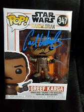 Carl Weathers SIGNED Funko Pop! STAR WARS The Mandalorian GREEF KARGA