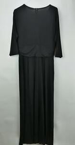 G.I.L.I. Regular 3/4 Sleeve Twist Front Maxi Dress Black M  A302109