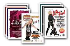 LITA FORD - 10 promotional posters  collectable postcard set # 1