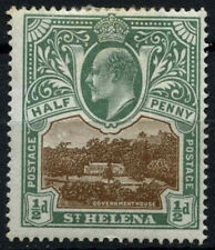 St. Helena 1903 SG#55w 1/2d Brown And Grey-Green Wmk Inverted Cat £200 #D52761