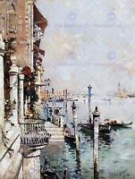 PAINTING CITYSCAPE VENICE UNTERBERGER VIEW GRAND CANAL ART PRINT POSTER LAH043