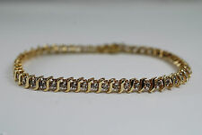 "Exciting Round Brilliant Diamond Tennis Bracelet 2.0cttw 14k Yellow Gold 7""L"