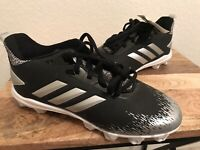 NEW Youth Adidas Afterburner V MD K Baseball Cleats BLACK / White Size 5.5
