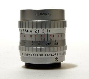 Taylor Hobson 1 inch (25mm) f1.9 Serital C mount 16mm cine lens