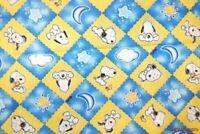 "FQ 2003 Vtg HTF Baby Snoopy Starlight Snoopy Diamond Ctn Fabric 18""Lx22""W-BTFQ"