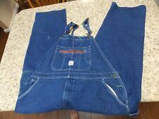 Pointer Brand Blue Denim Bib Overalls 48 X30--Free Shipping
