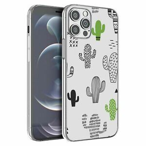 For Apple iPhone 12 Pro Max Silicone Case Cactus Pattern - S6615