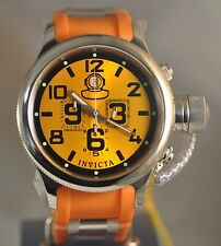 New Mens Invicta 4582 Russian Diver Quinotaur Chronograph Orange Poly Watch