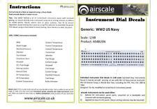 Airscale Wkii US Marine Instrument Telefonisch Upgrade Aufkleber 1/48 08 St