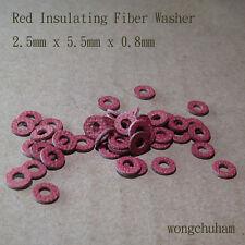 50pcs Red Insulating Fiber Washer 2.5mm x 5.5mm x 0.8mm