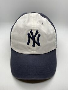 MLB New York Yankees Cap Hat Kids Adjustable White Cotton