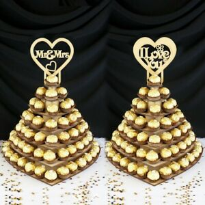 Wooden 7-layer Cup Cake Rack Wedding Party Chocolate Display Rack Ornaments