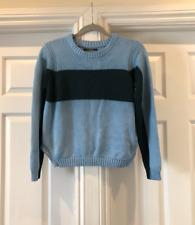 Bruuns Bazaar Vintage Woman's Light Blue Green Crew Neck Sweater Size M