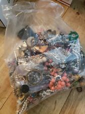 Huge Lot Of Mixed Vintage Modern Jewerly Resale crafts 4lbs 13oz