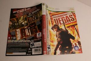 Rainbow Six Vegas Xbox 360 replacement cover art insert only! original