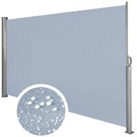 Seitenmarkise Windschutz Sichtschutz Sonnenschutz Terrasse Markise 1,6x3m Grau
