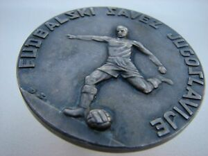 RARE Soccer Union of Yugoslavia plaque medal marked