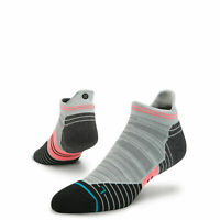 Stance Mens Uncommon Solids Wool Tab Running Socks - No Show - Black/Grey, L