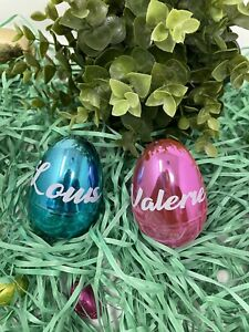 Easter eggs personalized fillable ornaments, Easter gift for kids, Easter eggs