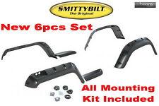 """SmittyBilt 97-06 Jeep Wrangler (TJ/LJ) 6"""" Wide Pocket Fender Flares Kit - 4pcs"""