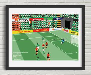 Soccer Art Ireland v Holland Sept 2001 Jason McAteer Goal World Cup Qualifier