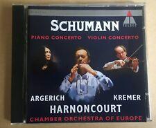 Schumann - Piano Concerto, Violin Concerto CD Teldec, Argerich, Kremer