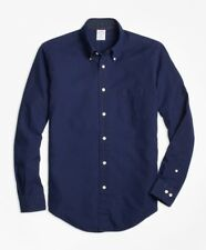 Brooks Brothers Regent Fit Indigo Dobby Sport Shirt Size Large - New with Tags