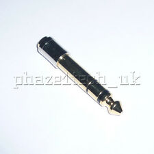 """High Quality Copper TRS Audio Adapter - 1/8"""" 3.5mm Mini Jack to 6.35mm 1/4"""" Jack"""