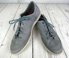 ECCO Womens Gray Suede Leather Lace Up Sneaker Size 40 US 9-9.5