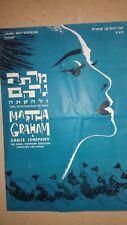 "MARTHA GRAHAM & DANCE COMPANY & G.BARTINI ORCHESTRA PROGRAM  1950"" ISRAEL"