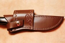 Custom Leather Cross Draw Sheath for Buck 119 Knife
