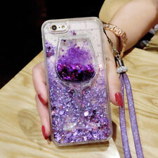 Bling Dynamic Liquid Glitter Quicksand Soft Back phone Case Cover & strap #1