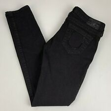 True Religion Skinny Ankle Jeans Women's Size 26 Black Sequin Horseshoes