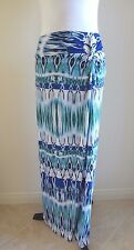 BOSTON PROPER Knotted Ikat Tribal Maxi Skirt Blue Multi M (10/12) - $119 - NWT