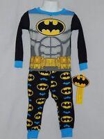 NEW Batman Pajamas 2pc DC Comic Book Action Figure Sleepwear Outfit Boys Size 2T