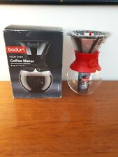 Bodum Pour Over Coffee Maker with Permanent Filter 1.0 L Red