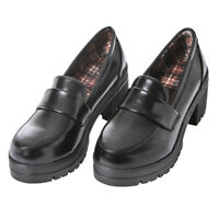 Japanese JK School Block High Heel Shoes Womens Universal Maid Cosplay Shoes