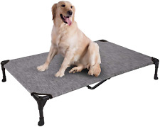 Elevated Dog Bed Portable Raised Pet Cot with Washable & Breathable Mesh Hammock
