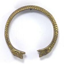 Kada Bracelet Lion Figurative G18-50 Us Vintage Old Solid Brass Made Tribal Hand