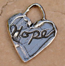 Hope on a Heart Sterling Silver Charm, 363d