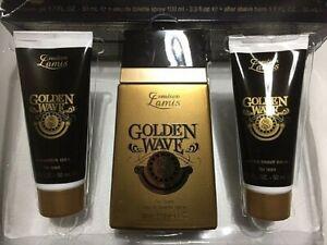 LAMIS GIFT GOLDEN WAVE FOR MEN Eau de Toilette 100ml AftershaveBalm-ShowerGel