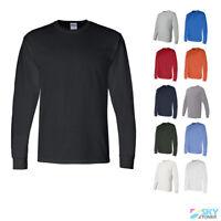 Gildan DryBlend 50/50 Mens Crewneck Long Sleeve T-Shirt Sizes S-3XL 8400