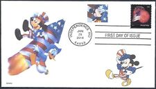 FOURTH OF JULY  MICKEY MOUSE   DONALD DUCK   ROCKET      FDC- DWc CACHET