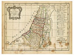 Israel Judea Jerusalem Palestine Syria Middle East map Lattre Delamarche ca.1800