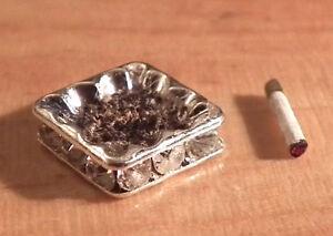 1/12 Dolls House miniature Ashtray & Cigarette Handmade Lounge Set Pub Study LGW